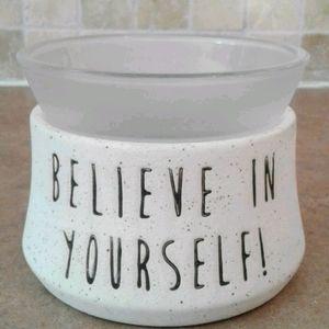 Scentsy believe in yourself! wax warmer.